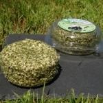 Fresh cheese garlic and herbs